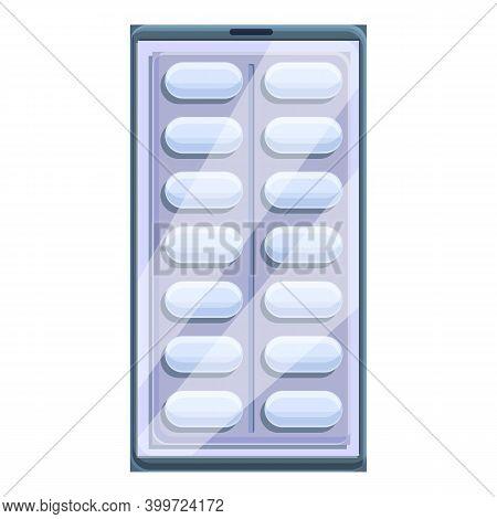 Telemedicine Pills Icon. Cartoon Of Telemedicine Pills Vector Icon For Web Design Isolated On White