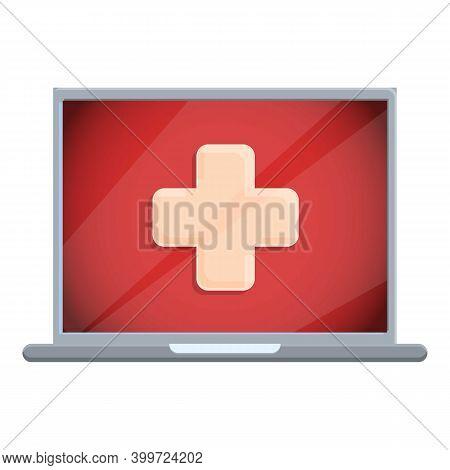 Telemedicine Medical Help Icon. Cartoon Of Telemedicine Medical Help Vector Icon For Web Design Isol