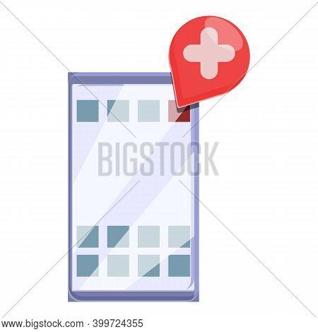 Telemedicine Online Chat Icon. Cartoon Of Telemedicine Online Chat Vector Icon For Web Design Isolat