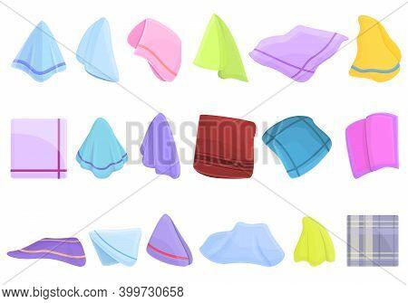 Handkerchief Icons Set. Cartoon Set Of Handkerchief Vector Icons For Web Design