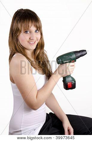 Teen girl with a gimlet.