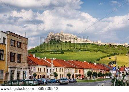 Spisske Podhradie Town And Spis Castle In Slovakia.