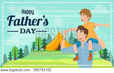 Happy Father's Day Vector Illustration For Greeting Card