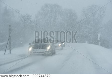 Car And Snow In Winter