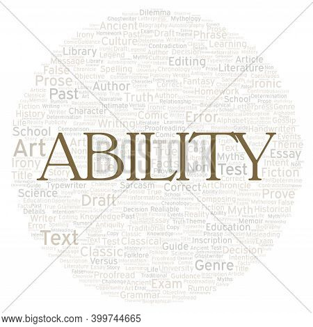 Ability Typography Word Cloud Create With Text Only