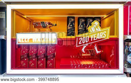 Bangkok, Thailand-dec 10, 2020: Shelves Of Johnnie Walker Whisky Bottles, Popular Variants Of Johnni
