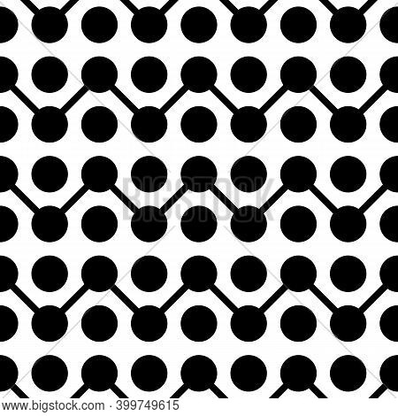 Circles, Lines Ornament. Tribal Background. Line, Circle Shapes Seamless Pattern. Stripes, Rounds Or