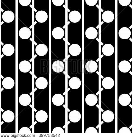 Circles, Lines Ornament. Geometric Background. Line, Circle Shapes Seamless Pattern. Ethnic Wallpape