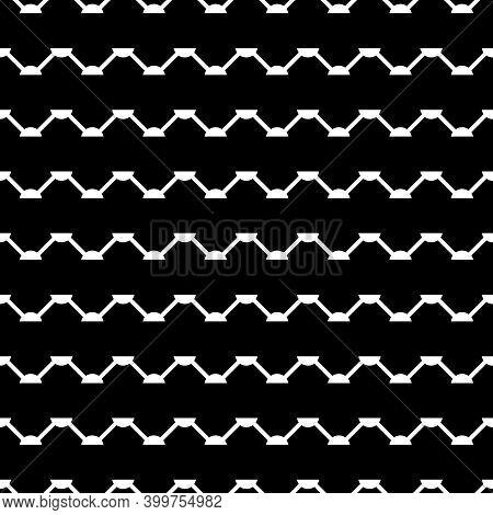 Zigzag Lines Seamless Ornament. Curves Pattern. Jagged Stripes Motif. Ethnic Background. Folk Image.
