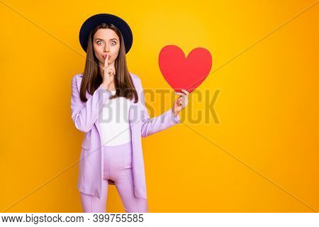 Portrait Of Her She Nice-looking Attractive Pretty Lovely Cheerful Girlish Teen Girl Holding In Hand