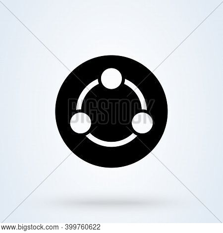 Share Sign Icon Or Logo. File Sharing Concept. Share Social Networking Service Vector Illustration.