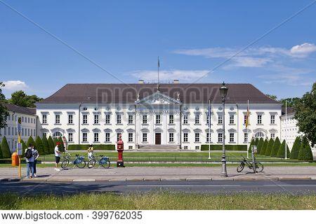 Berlin, Germany - June 03 2019: The Bellevue Palace (german: Schloss Bellevue) Is The Official Resid