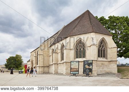 Caen, France - July 21 2017: The Church Of Saint George Is Dedicated To Georges De Lydda. It Was Was