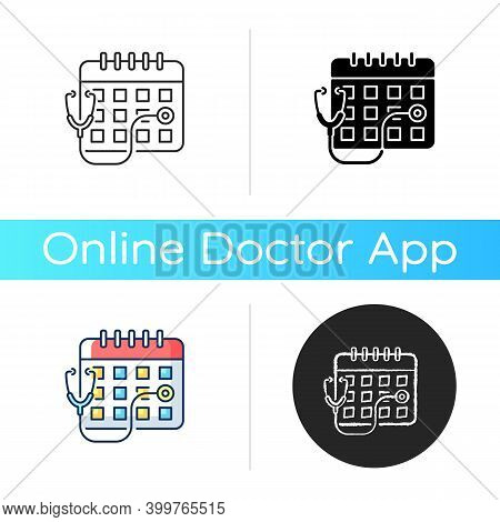 Consultation Time Icon. Primary Care Doctor Visit. Physician Workload. Clinical Examination Time Len
