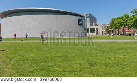 Amsterdam, Netherlands - May 15, 2018: Famous Van Gogh Museum Building In Amsterdam, Holland.