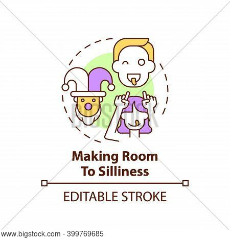 Making Room To Silliness Concept Icon. Parent Play With Kids. Childcare, Family. Early Childhood Dev