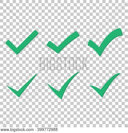 Set Of Green Check Mark Badge Icons. Approved Icon. Chek Mark