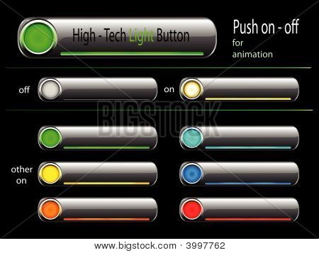 Vector - On And Off High Tech Button