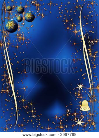Blue And Golden Elegant Christmas Decoration