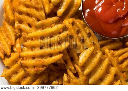 Homemade Greasy Waffle French Fries
