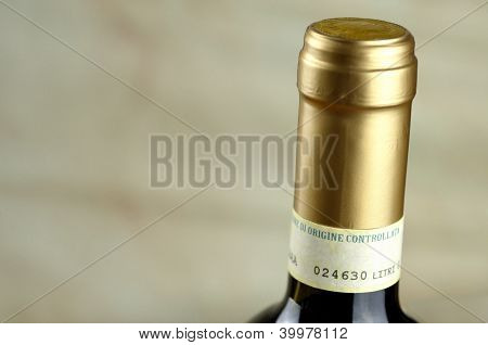 Bottle Of Fine Italian Red Wine