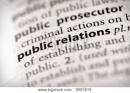 Dictionary Series - Marketing: Public Relations