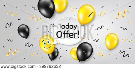 Today Offer Symbol. Balloon Confetti Vector Background. Special Sale Price Sign. Advertising Discoun