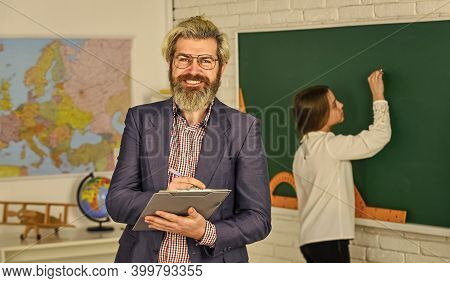 Teacher Checking Right Answer. Teaching With Passion. Teaching Materials. Who Is Absent Today. Small
