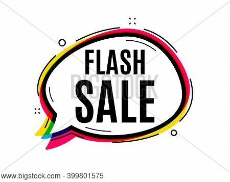 Flash Sale. Speech Bubble Vector Banner. Special Offer Price Sign. Advertising Discounts Symbol. Tho
