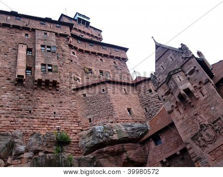 Haut Koenigsbourg Castle Medieval Rampart