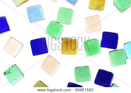 Jewels Or Precious  Mirror Stones Background Isolated