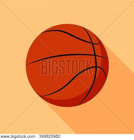 Basket Sport Ball Icon In Color. Sport Equipment For Basketball. Symbol For Mobile Application Or We