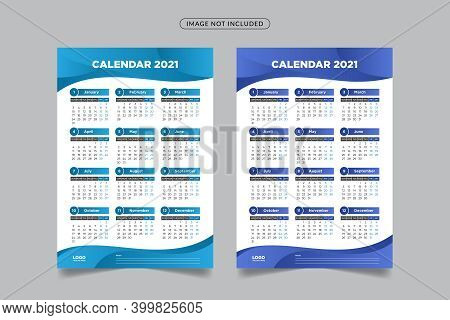 2021 wall calendar, wall calendar template 2021, 2021 corporate wall calendar, 2021 creative wall calendar