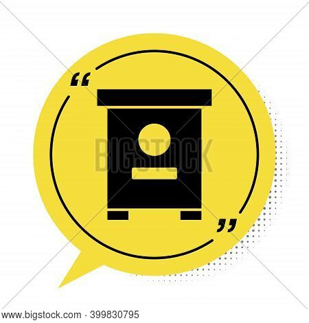 Black Hive For Bees Icon Isolated On White Background. Beehive Symbol. Apiary And Beekeeping. Sweet