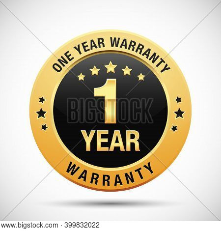 1 Year Warranty Golden Badge