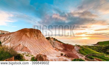 Hallett Cove Sugarloaf At Sunset During Winter Season, South Australia