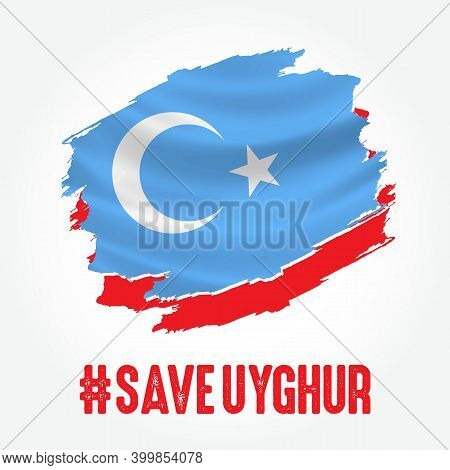 Save Uyghur Vector Illustration Suitable For Banner And Poster