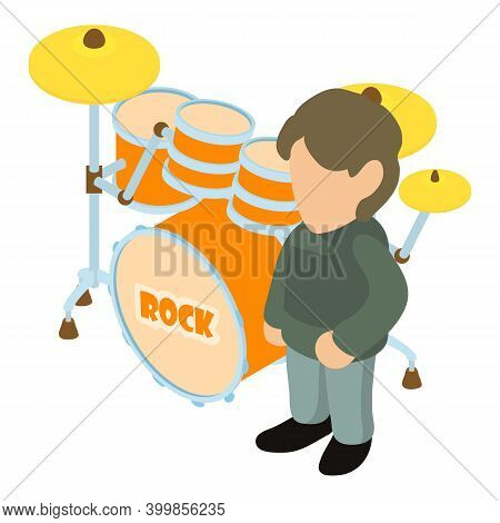 Rock Musician Icon. Isometric Illustration Of Rock Musician Vector Icon For Web