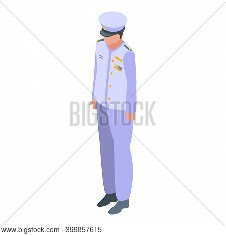 Aircraft Carrier Captain Icon. Isometric Of Aircraft Carrier Captain Vector Icon For Web Design Isol