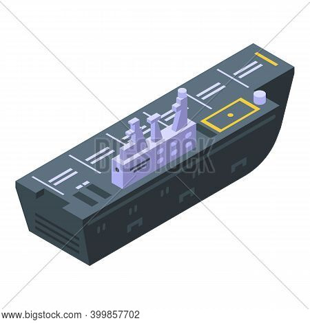 Aircraft Carrier Army Icon. Isometric Of Aircraft Carrier Army Vector Icon For Web Design Isolated O
