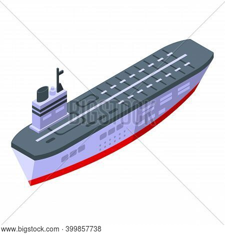 Aircraft Carrier Deck Icon. Isometric Of Aircraft Carrier Deck Vector Icon For Web Design Isolated O