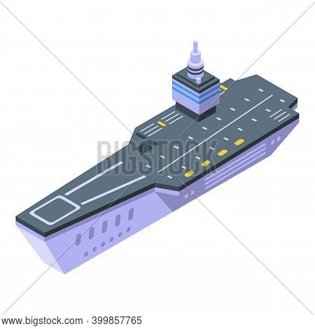 Aircraft Carrier Attack Icon. Isometric Of Aircraft Carrier Attack Vector Icon For Web Design Isolat