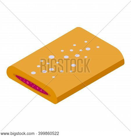 Figs Biscuit Icon. Isometric Of Figs Biscuit Vector Icon For Web Design Isolated On White Background