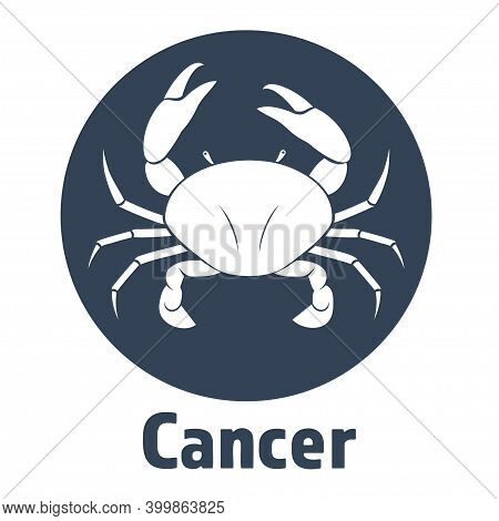 Black Cancer Vector Icon. Illustration Of An Astrology Sign. Zodiac Astrology Sign Depicting Crab Ar