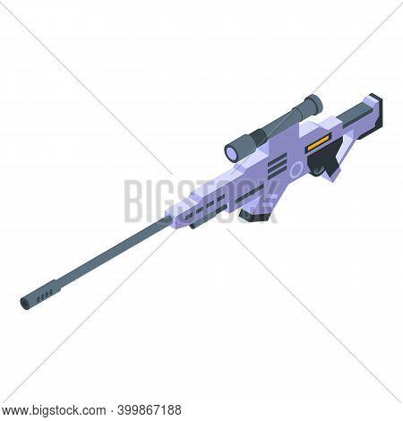 Gun Killer Icon. Isometric Of Gun Killer Vector Icon For Web Design Isolated On White Background