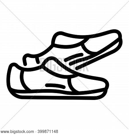 Leather Shoes Nordic Walking Icon. Outline Leather Shoes Nordic Walking Vector Icon For Web Design I
