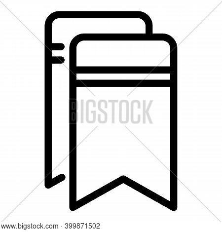Carton Bookmark Icon. Outline Carton Bookmark Vector Icon For Web Design Isolated On White Backgroun