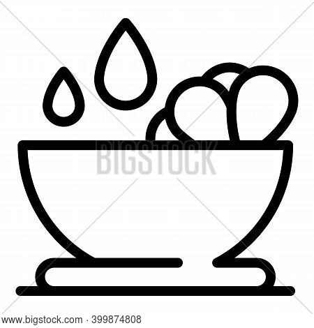 Canola Bowl Icon. Outline Canola Bowl Vector Icon For Web Design Isolated On White Background