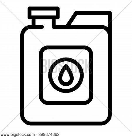 Canola Oil Bottle Icon. Outline Canola Oil Bottle Vector Icon For Web Design Isolated On White Backg