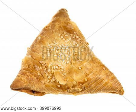 Cooked Samsa (savoury Pastry Stuffed With Minced Meat And Chopped Onion In Central Asian Cuisine) Is